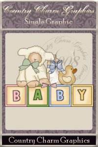 Baby Lamb Blocks Single Graphic Set