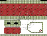 Red Cherries Bandaid Tin Box Cover Set
