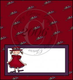 Red Hat Lady Checkbook Cover