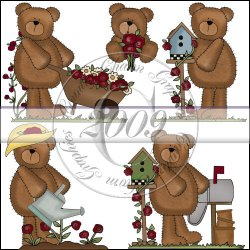 Rose Garden Bears Mini Collection