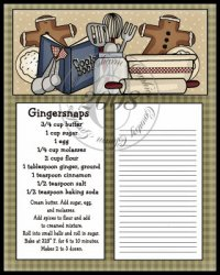 Gingersnaps To Do Sheet