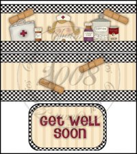 Get Well Soon International Coffee Tin Cover Set