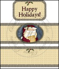 Happy Holidays International Coffee Tin Cover Set