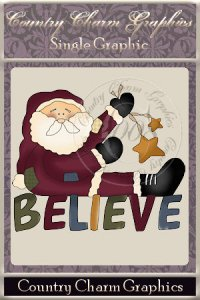 Believe in Santa Single Graphic Set