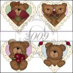 Love Bear Hearts Mini Collection