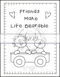 Friends Make Life Bearable Line Art & Pattern Single