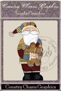 Patchwork Santa Single Graphic Set