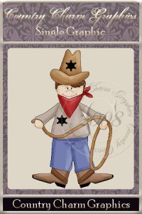 Dress-up Cowboy Single Graphic Set