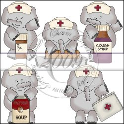 Elephant Nurses Mini Collection