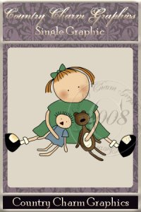 Wee Folk Playtime Girl Single Graphic Set