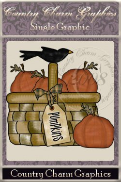 Pumpkin Basket Single Graphic Set