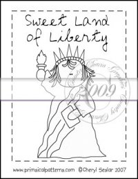 Sweet Land of Liberty Line Art & Pattern Single