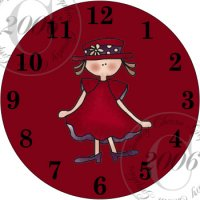 Red Hat Lady Clock