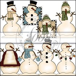 Country Snowmen Mini Collection