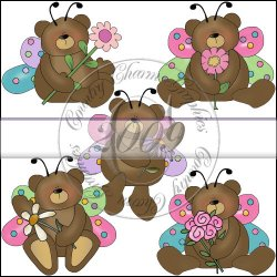 Sweet Butterfly Bears Mini Collection