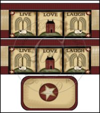 Live Love Laugh International Coffee Tin Cover Set