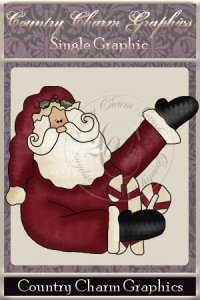 Candy Cane Santa Single Graphic Set