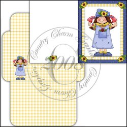 Whimiscal Garden Girl Card Set