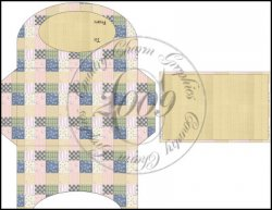 Pastel Quilt Gift Card Holder Set 1