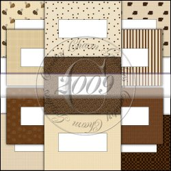 Coffee Candy Bar Wrapper Set, Blank, 1.55 oz.