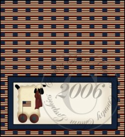 Americana Lamb Checkbook Cover