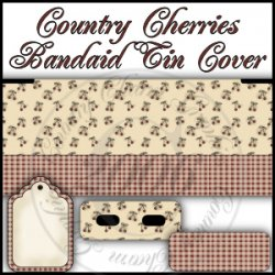 Country Cherries Bandaid Tin Cover Set