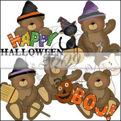 Sweet Halloween Bears Mini Collection