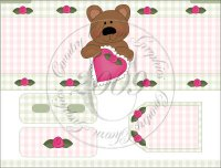 Love Bears Bandaid Tin Cover Set