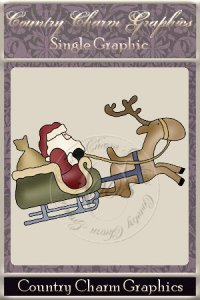 Santa's Sleigh Single Graphic Set