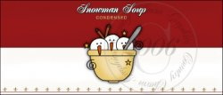 Snowman Soup Label 5