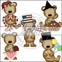 Seasonal Bears Mini Collection