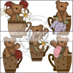 Bears & Flower Cups Mini Collection