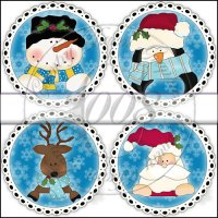 Winter Faces Ornament Collection