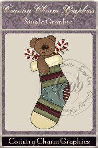 Stocking Bear Single Graphic Set