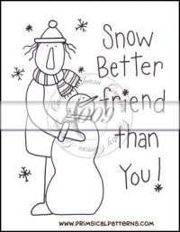 Snow Better Friend Line Art & Pattern Single