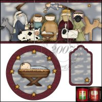 Whimsical Nativity Folgers Coffee Canister Set