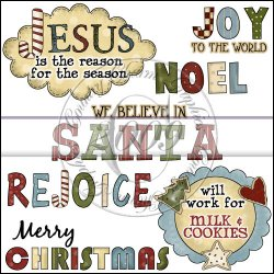 Christmas Word Art Mini Collection