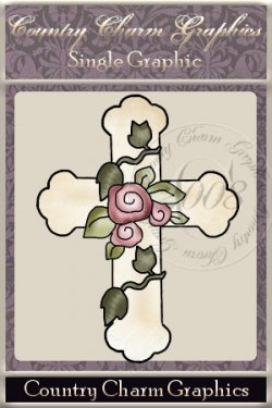 Rose Cross Single Graphic Set
