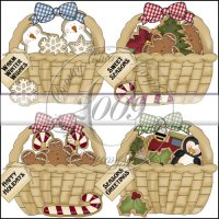 Christmas Cookie Baskets Mini Collection