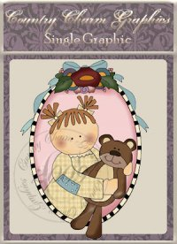 Sweet Teddy Oval Single Graphic Set