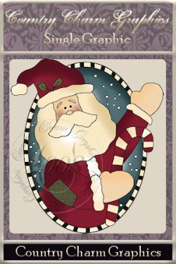 Candy Santa Oval Single Graphic Set