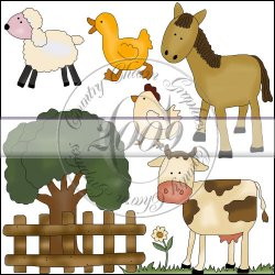 Cute Farm Animals Mini Collection