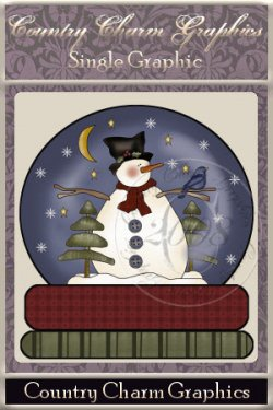 Starry Night Snowman Snowglobe Single Graphic Set