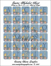 Easter Alphabet Sheet