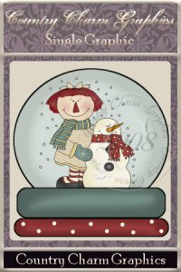 Annie & Snowman Snowglobe Single Graphic Set