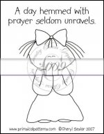 A Day Hemmed With Prayer Line Art & Pattern Single