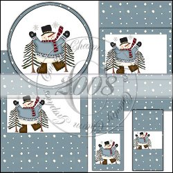 Full of Joy Snowman Wrapper Set