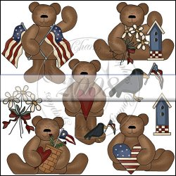 Americana Bear Mini Collection