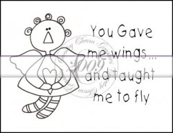 You Gave Me Wings Line Art & Pattern Single