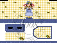 Whimsical Garden Girl Bandaid Tin Box Cover Set